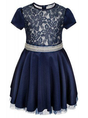 Платье нарядное с декоративным поясом