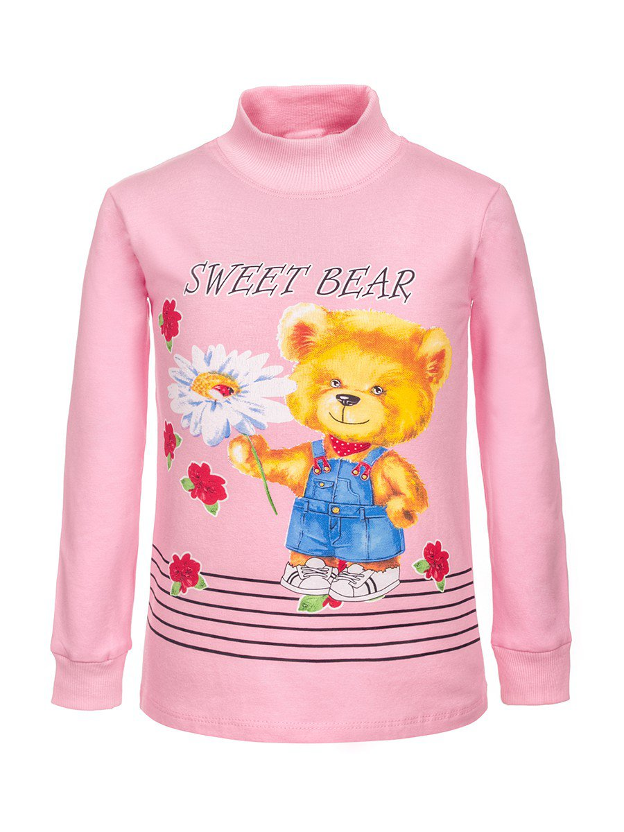 Водолазка с начесом для девочки, цвет: светло-розовый