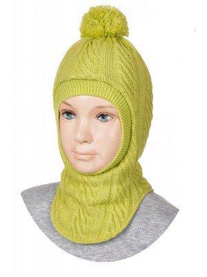 Шапка-шлем для девочки на подкладке