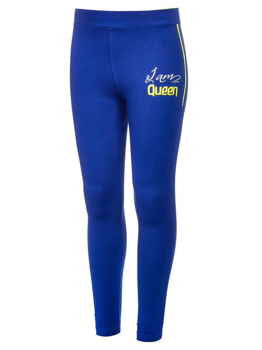 Брюки спортивные для девочки, цвет: синий