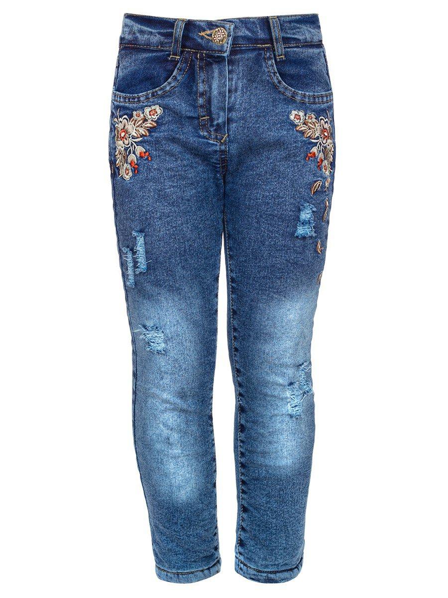 Брюки джинсовые на махровой подкладке, цвет: деним
