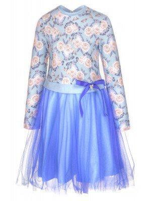 Платье с юбкой солнце с двойной сеткой