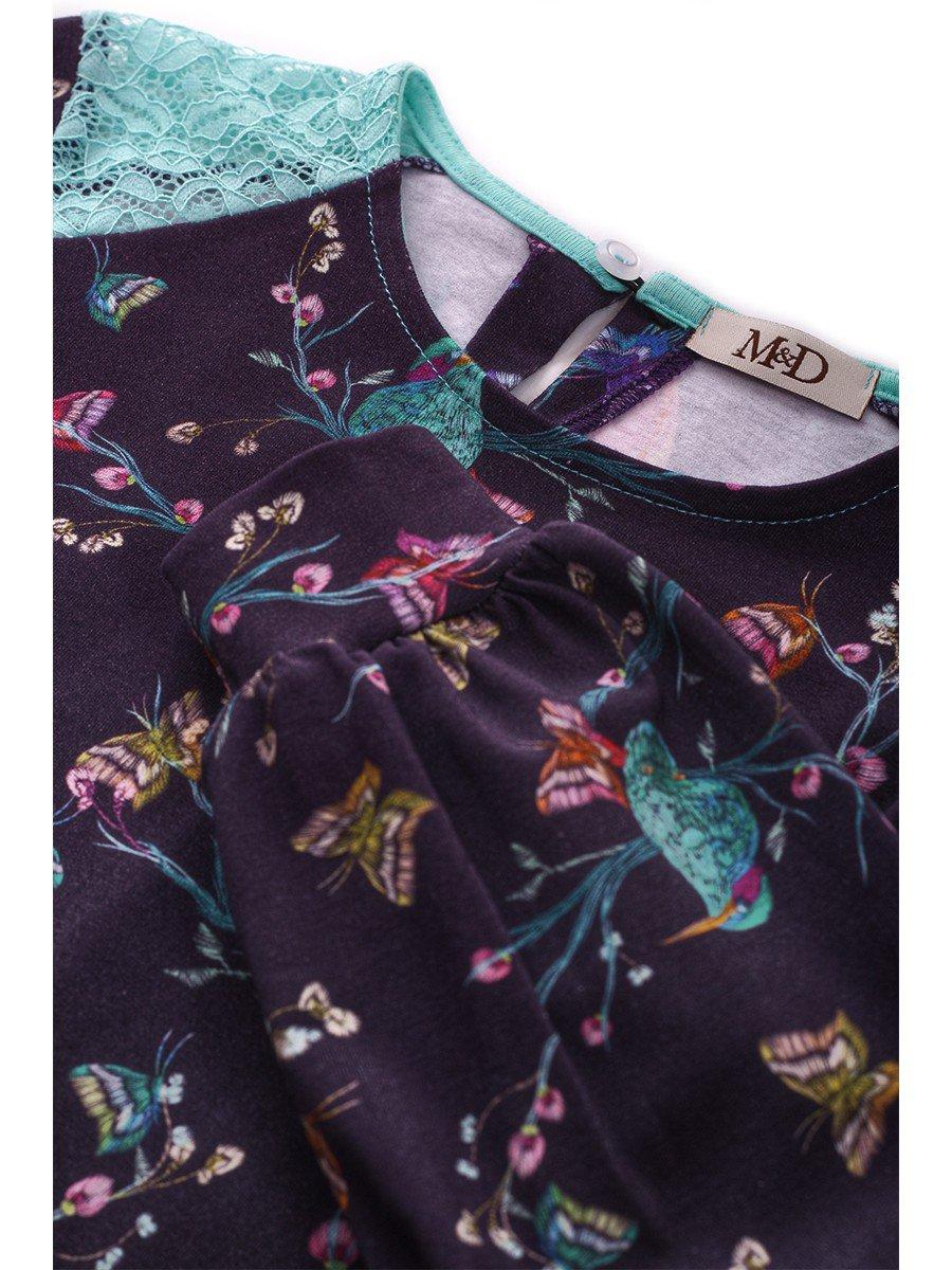 Блузка для девочки с кружевными вставками