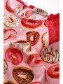 Блузка для девочки с кружевными вставками, цвет: фуксия