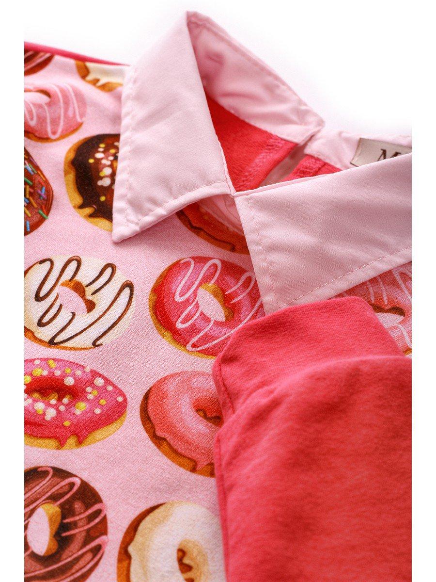 Джемпер обманка для девочки, цвет: розовый