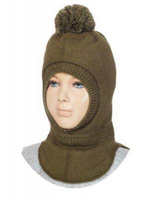 Шапка-шлем для мальчика на подкладке