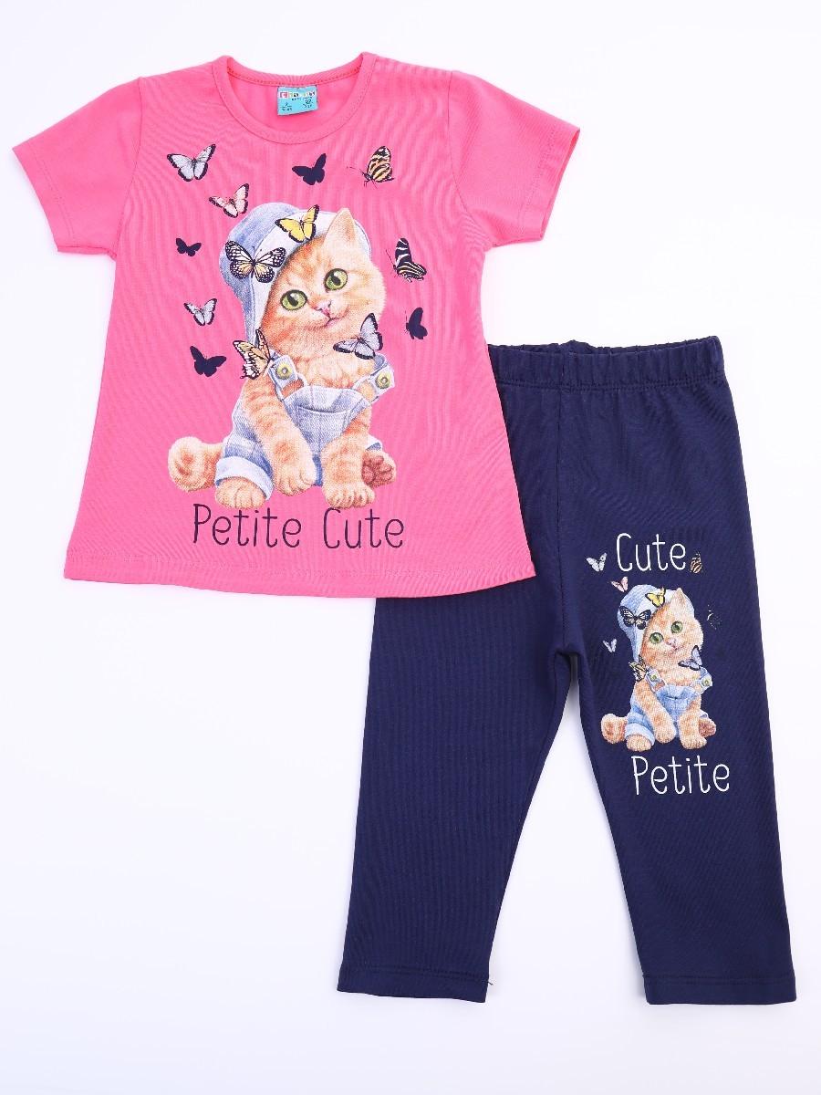 Комплект для девочки: футболка и лосины укороченные